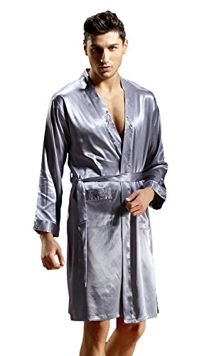 Grau Sweatsuit (DQQ Herren Bademantel Gr. XXX-Large, Grau - Grey Blue)