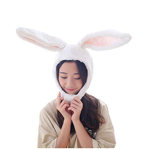 NACOCO Mädchen Kaninchen Hut Ostenhase Hut Hasen Ohren Kappe Lustige Party Urlaub Hut Niedlich Kostüm für Männer und Frauen - Weiß - (Lustige Niedliche Kostüm Frauen)