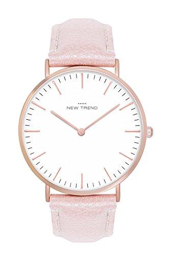 New Trend - Love for Accessories Damen Uhr analog Quarzwerk mit Kunst-Leder-Armband 7Y-J1QO-F9JS
