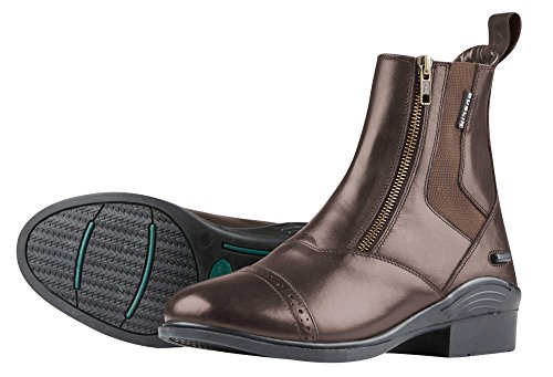 Dublin Evolution Doppel-Zip Front Paddock Stiefel-Schwarz 42 braun (Paddock Reiten, Stiefel)