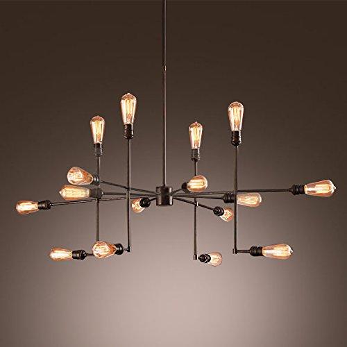 BAYCHEER-Industrielampe-Deckleuchte-Deckenlampe-8-Flammige-Lampenfassung-Schmiedeeisen-Lampe-Kronleuchte-Pendellampe