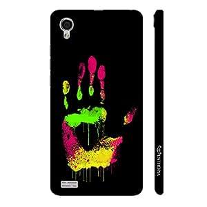 Enthopia Designer Hardshell Case Coloured Hand Print Back Cover for Vivo Y31L