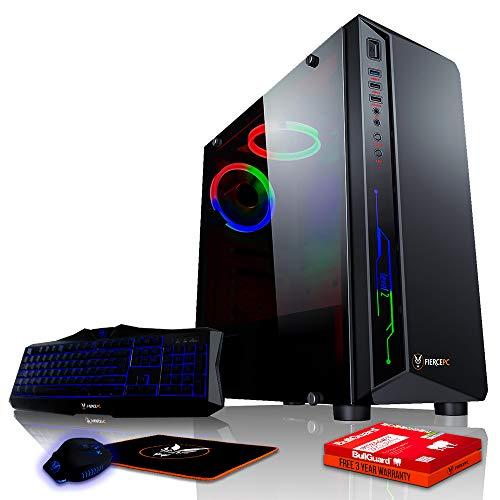 Fierce Exile RGB Gaming PC Bundeln - Schnell 4.1GHz Hex-Core AMD FX-6300, 1TB Festplatte, 16GB 1600MHz, NVIDIA GeForce GTX 1050 Ti 4GB, Windows Nicht Enthalten, Tastatur Maus (VK/QWERTY) 364340