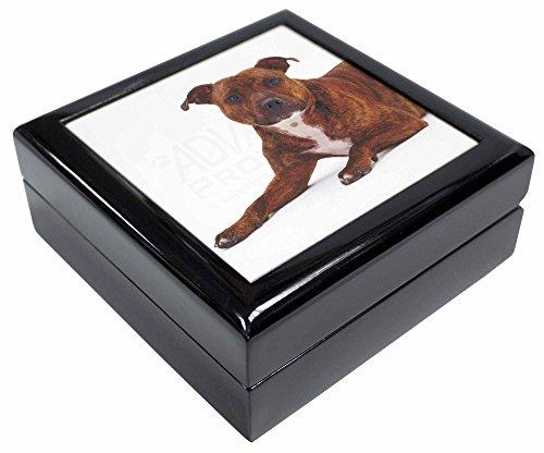 Advanta - Jewellery Boxes Staffordshire Bull Terrier Hund Andenken/Schmuck Box Weihnachten Geschenk (Terrier Hund Schmuck Bull)