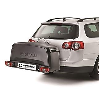 Westfalia Transportbox für Fahrradträger – Praktische Gepäckbox (wasserdicht) – Ideale Alternative zur Dachbox – Heckbox mit 200l Fassungsvermögen