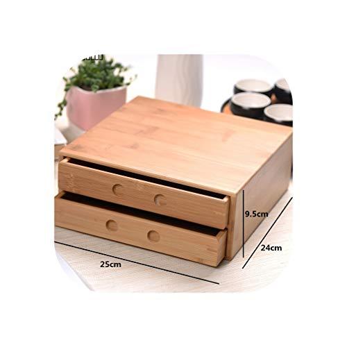 Pu\'er Teebox aus natürlichem Bambus, handgefertigt, Kung-Fu-Set, kreative Schublade, Teaware Zubehör Double Layer