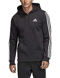 Adidas MH 3S FZ FL Sweatshirt, Hombre, Black/White, S