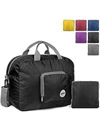 WANDF Foldable Travel Duffel Bag Sac de Voyage Pliable Sac de Sport Gym  Résistant à l e8723be5ba3