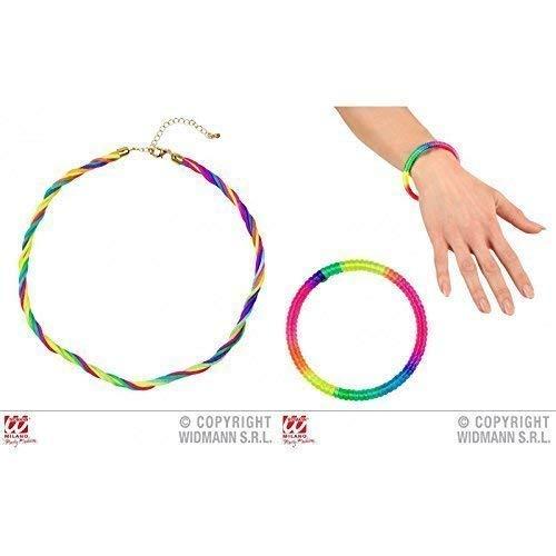 Lively Moments Bunte Halskette / Kette mit passendem Armreif Regenbogen