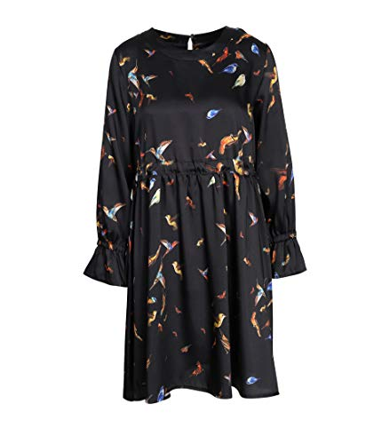 (LA FEE MARABOUTEE Damen Kleid in Schwarz mit Vogel-Print 795 Coloris Du Type 40)