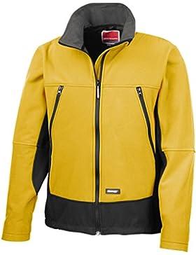 Resultado r120a Softshell chaqueta de actividad, Liso, Unisex, color Sp/Yellow/Black, tamaño Large