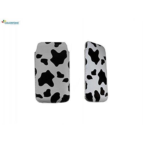Unbekannt mobile Case Cover Protector Case rtabilisation de l'iPhone Flip Phone 4 4S Smartphone taches de vache de cas de cordon trous sonores