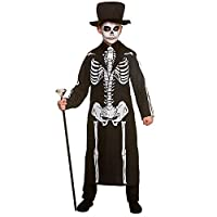 Kids Boys Day of the Dead Skeleton Halloween Fancy Dress Costume