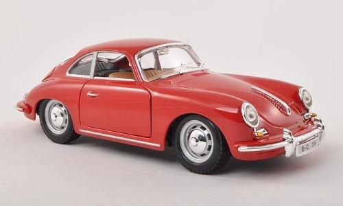Porsche 356 B, rot, 1961, Modellauto, Fertigmodell, Bburago 1:24