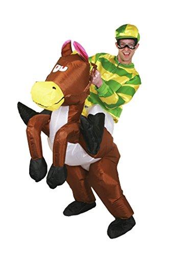 Jockey Pferd Kostüme Erwachsenen (AUFBLASBARES KOSTÜM FÜR EINE