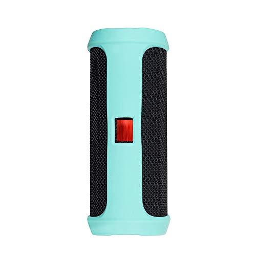 Prevently Portable Silikonhülle Für Jbl Flip 4 Bluetooth Lautsprecher Tragbare Bergsteigen Silikonhülle für Reisetasche Soft Silica Gel Aufbewahrungstasche Audio Case (Minzgrün) Silica Gel Case