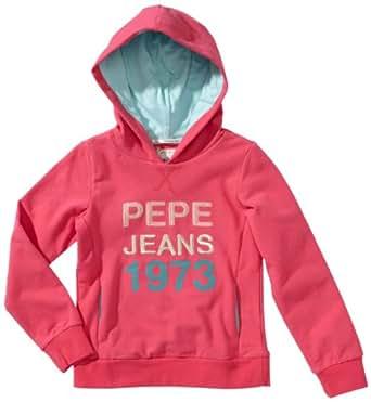Pepe Jeans Sweatshirt  À capuche Manches longues Fille - Rose foncé - Pink (337 LT FUCHSIA) - FR : 4 ans (Taille fabricant : 104)