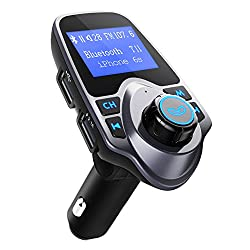 Fm Transmitter, Omorc Wireless In-car Bluetooth Fm Transmitter Radio Adapter Hands-free Talking Car Kit With Dual Usb Port For Iphone Android Samsung Other Bluetooth Devices