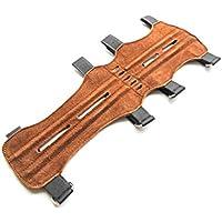 Protector de brazo para tiro con arco, piel de ante de calidad, suave, marrón