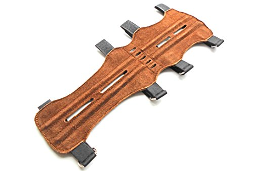 quality-soft-suede-leather-archery-arm-guard-shooting-arm-guardbrown