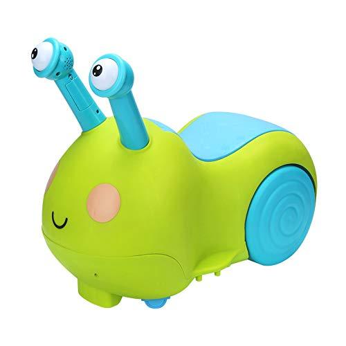 ERM Infant Kind Schnecken Twist Auto Kleinkind Spielzeugauto Mit Musik Beleuchtung Aufbewahrungsbox Ohne Pedal Allrad Roller,Green