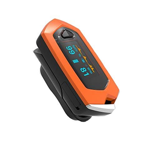 WLXW Fingerspitzen-Pulsoximeter, Blutsauerstoffsättigungsdetektor Mit Herzdetektor, Eingebauter Lithium-Batterie-OLED-Bildschirm Für Outdoor-Sportarten (Orange)