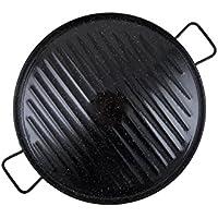 Garcima 11046 - Plancha grill esmaltada redonda 46cm
