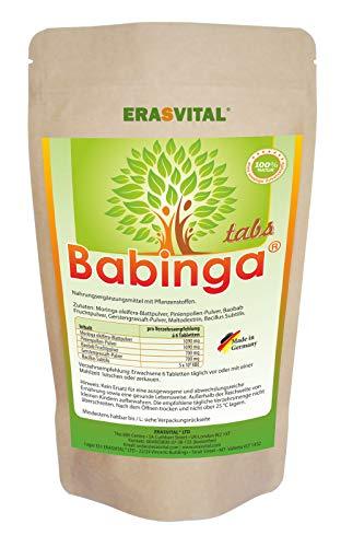 Babinga® Presslinge I 180 Stück / 127g I Pollen I Moringa I Baobab I GERSTENGRASSAFT I Bacillus SUBTILIS I