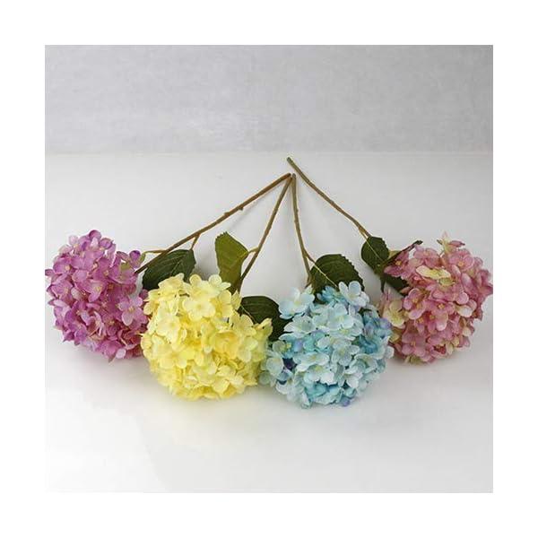 uyhghjhb 1 ramo de flores artificiales de seda, hojas de hortensia, decoración de bodas, fiestas, Arte de seda, gris
