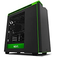 NZXT H440 CA-H442W-M9 Steel Mid Tower Case. Next Generation 5.25-less Design. Include 4 x 2nd Gen FNv2 Fans, High-End WC support, USB3.0, PWM Fan Hub Black/Green