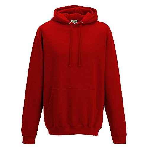 Just Hoods College Hoodie Sunset Red