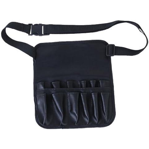 Ajustable Bolso Bolsa Paquete Cintura De Maquillaje Cepillos Cosméticos Cuero PU