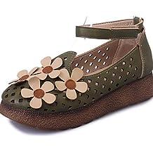 ZQ hug Zapatos de mujer - Plataforma - Comfort / Punta Cerrada - Oxfords - Exterior / Casual - Semicuero - Negro / Blanco / Bermellón , burgundy-us7.5 / eu38 / uk5.5 / cn38 , burgundy-us7.5 / eu38 / u