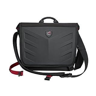 Asus ROG Ranger Messenger Notebook Tasche (bis zu 15,6 Zoll, ergonomisches Design, Gucci-Polyester) schwarz/rot