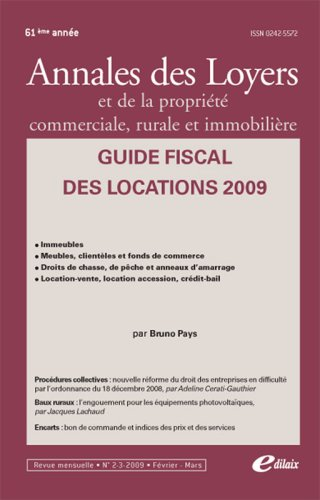 Guide fiscal des locations 2009