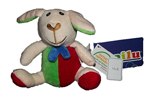 doudou-lupilu-lidl-mouton-hochet-orange-rouge-neuf