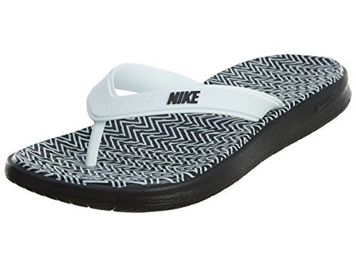 Nike Solay Thong Print Flip Flops (42, black/white)