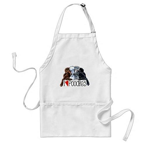Mignon Tablier Patterns pour filles garçons Restaurant de cuisine Chef cuisson BBQ I Love Caniches tabliers cou réglable et attaches de tour de taille