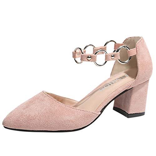 Dragon868 scarpe donna eleganti basse stivaletti velluto tacco a blocco elastico benda decolté invernale cerimonia regalo per donne moda 35-42