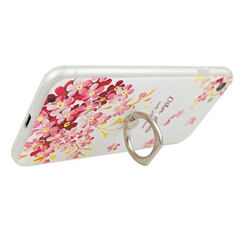 Etui iPhone 7 TPU, Coque iPhone 7 Case, Moon mood® 3D en Relief Peint Coque de Téléphone avec Anneau Support Protecteur d'écran TPU Étui Arrière Housse pour iPhone 7 4.7 pouce Téléphone Cellulaire Coq Style-9