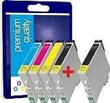 5 cartouches d'encre pour imprimantes Epson Stylus S-22 SX- 125 SX- 130 SX- 230 SX- 235W SX- 420W SX- 425W SX- 430W SX- 435W SX- 438W SX- 440W SX- 445W BX-305F BX-305FW