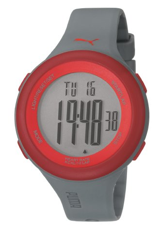 Puma Fit Unisex Digital Watch with LCD Dial Digital Display and Grey Plastic or PU Strap PU910961003