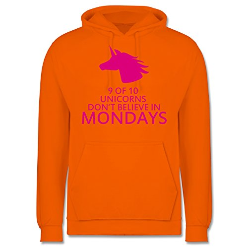 Nerds & Geeks - Einhorn - 9 of 10 unicorns don´t believe in mondays - Männer Premium Kapuzenpullover / Hoodie Orange