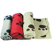 3 x Mantas Grandes de Suave Felpa para Perros, Gatos Mascotas Medida 70 x 100 cm