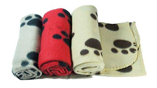 3x Decken groß aus weichem Plüsch für Hunde Katzen Haustiere Maße 70x 100cm