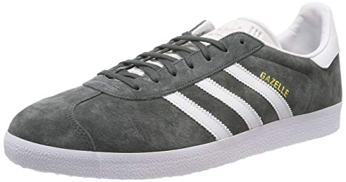 adidas Gazelle, Chaussures de Gymnastique Homme, Gris (Legend Ivy/Crystal White/Footwear White Legend Ivy/Crystal White/Footwear White), 43 1/3 EU