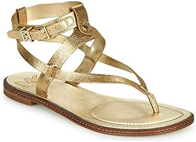Sandalias Doradas de Piel laminada Dorado Size: 36.5/41 EU