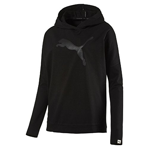 Puma Evo Cover Up W Felpa Sportiva - Nero (Cotton Black) - S
