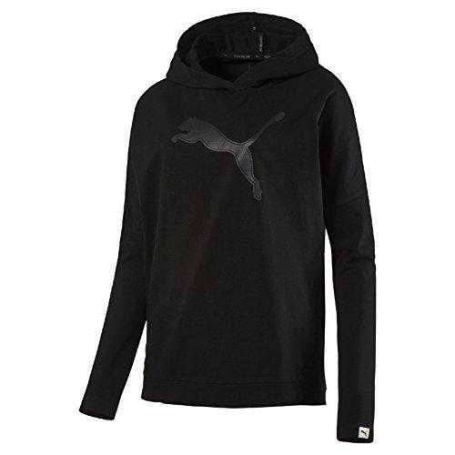 Puma Evo Cover Up W Felpa Sportiva - Nero (Cotton Black) - S
