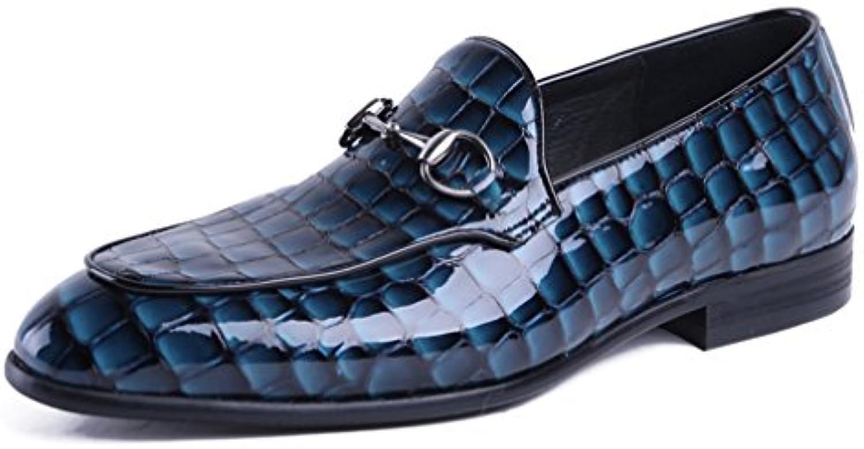 Dilize Zapatos Planos con Cordones de Charol Hombre